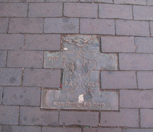 Pavement Trail jewellery quarter birmingham FA_Cup_was_made_here