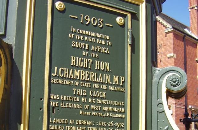 Chamberlain Clock Full Plaque Birmingham 2008