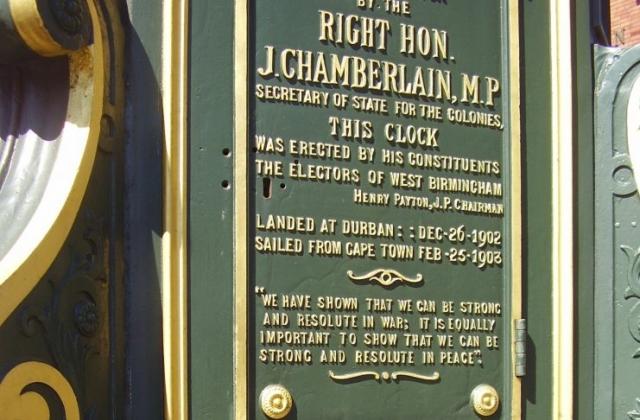 Chamberlain Clock Plaque Birmingham 2008