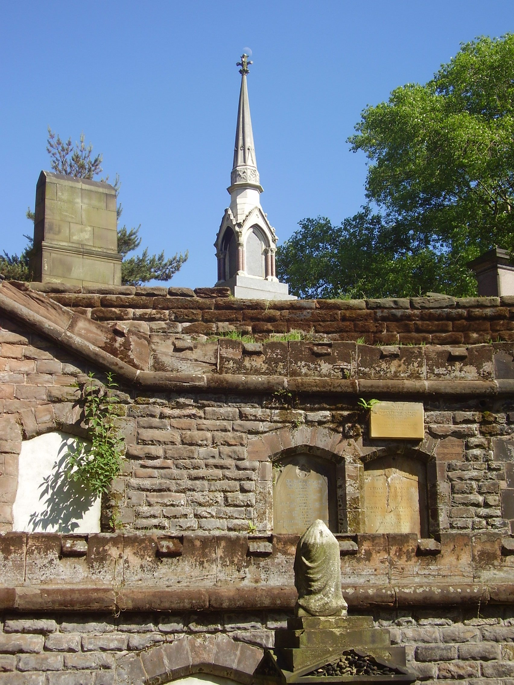 Warstone Lane Cemetery, also called Brookfields Cemetery, Church of England Cemetery, or Mint Cemetery 2008