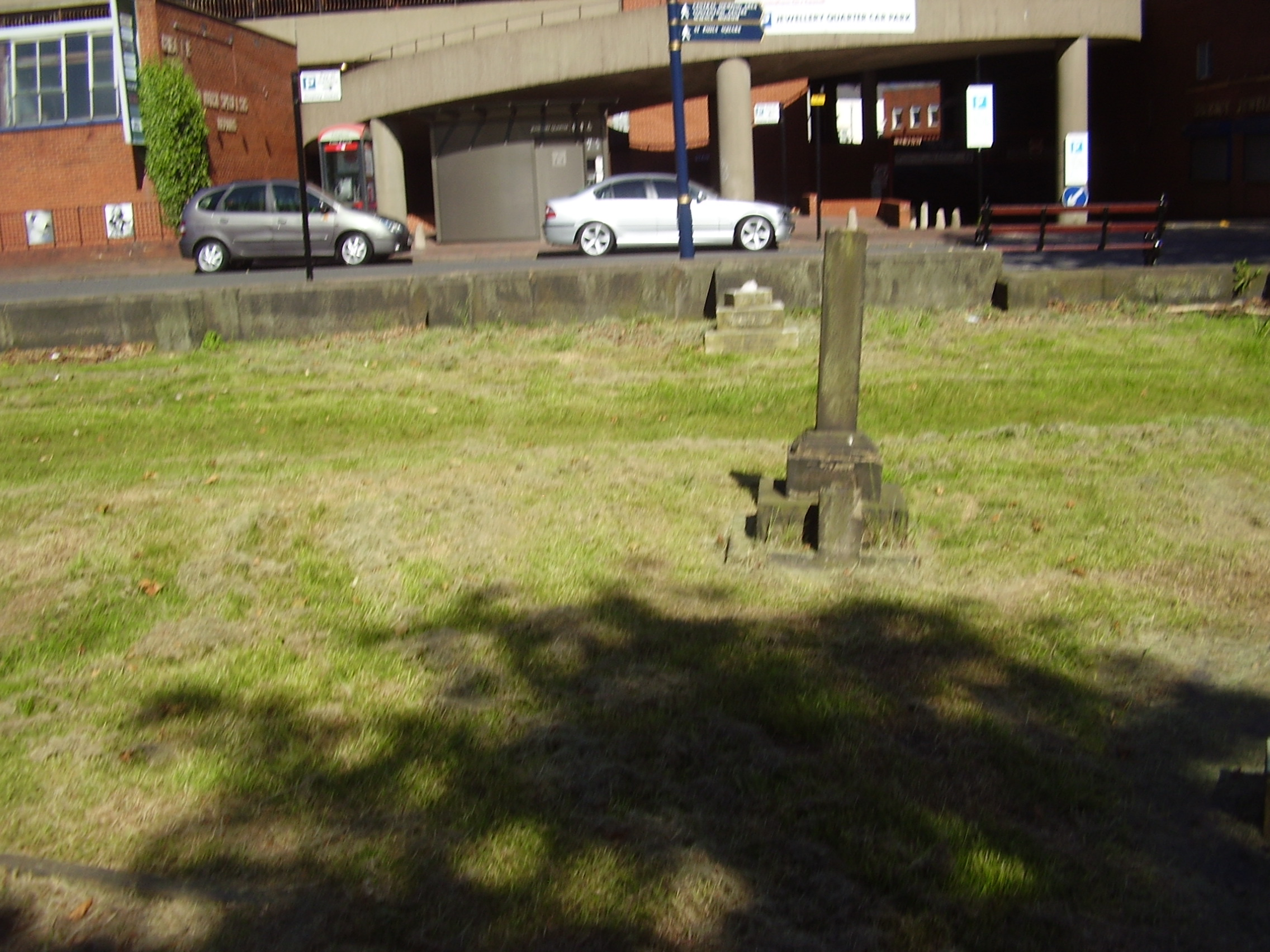 2008 Photograph from inside mint cemetery towads Vyse St, Jewellery Quarter Birmingham