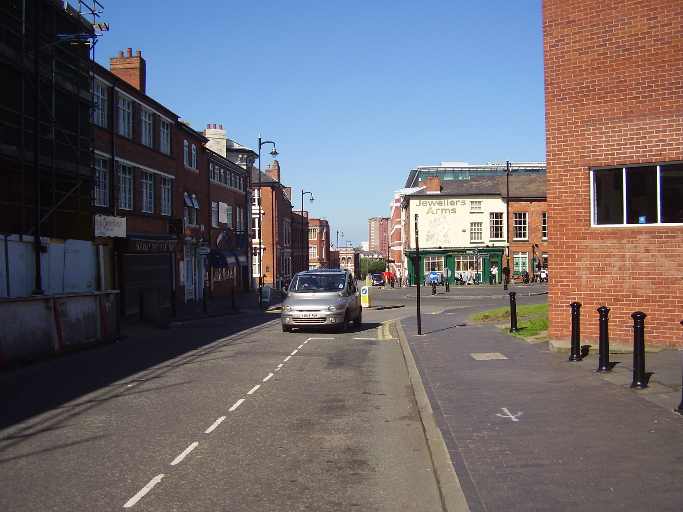 Jewellery Shops in Vyse St, Jewellery Quarter Birmingham photographed  2008