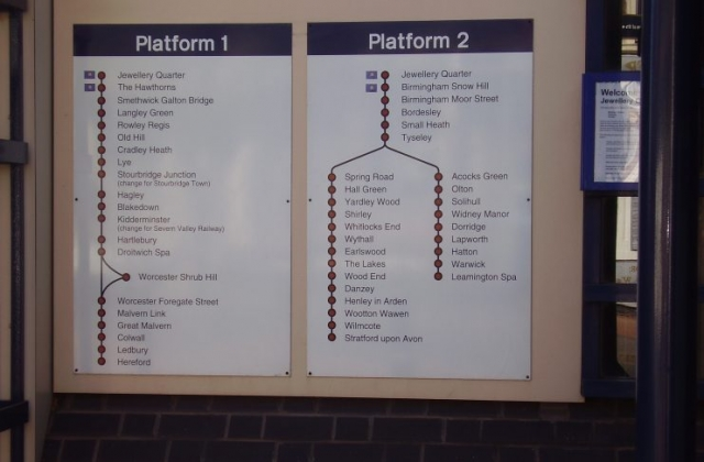 2008 Photograph of  Jewellery Quarter Station Timetable Vyse St, Jewellery Quarter Birmingham