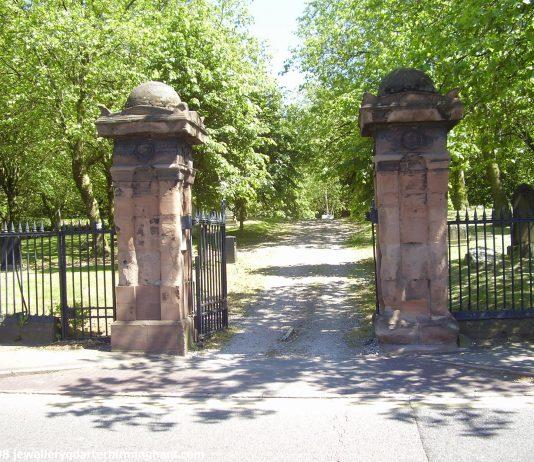 Main Entrance to Key Hill Cemetery in The Jewellery Quarter Birmingham Photo Joseph Burke 2008
